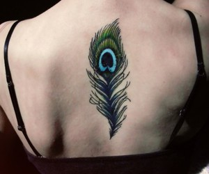 peacock feather, tattoo, and lovely and beautiful image