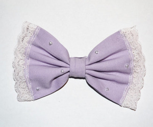 bow, lace, and purple image