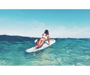 beach, girl, and pretty image