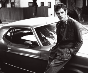 black and white, car, and joseph morgan image