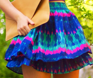 blue, skirt, and colorful image