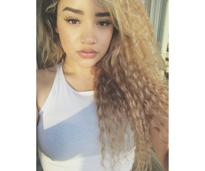 Afro, blonde, and caramel image