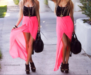 black, pink, and cute image