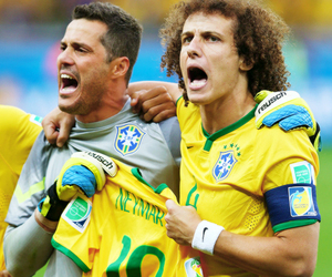 david luiz, brazil, and neymar image