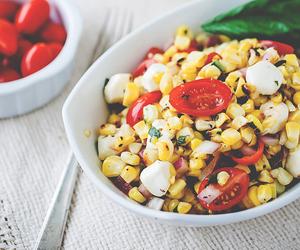 basil, vinaigrette, and corn image