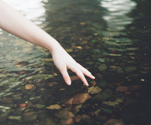hand, vintage, and water image