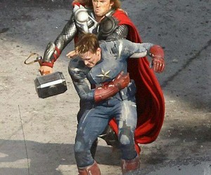 Avengers, captain america, and thor image