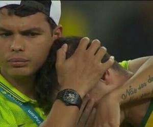 football, oscar, and thiago silva image