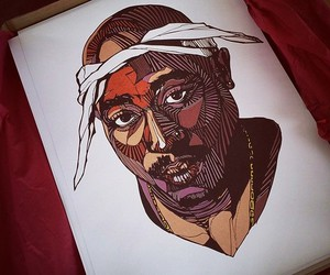 2pac, drawing, and illustration image