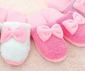 pink, girly, and slippers image