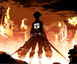 attack on titan, anime, and manga image