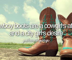 boots, city, and cowboy image