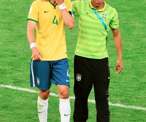 thiago silva, brazil, and david luiz image