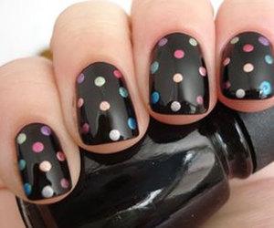 nails, black, and dots image