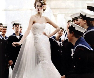 beautiful, marine, and wedding gown image