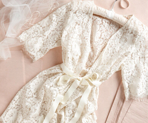 vintage, cute, and lacy robe image