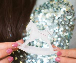blue, glitter, and pony image