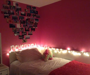 bedroom, night, and pictures image