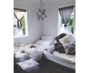 bedroom, diy, and pillows image