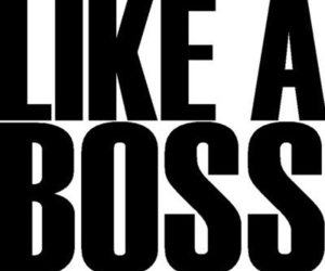like a boss, boss, and text image
