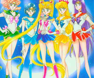 sailor mercury, sailor moon, and sailor mars image