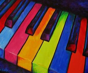 colorful and piano image