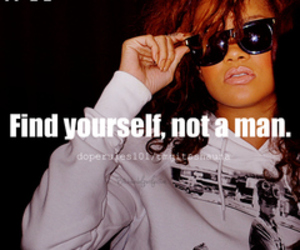 rihanna quote, swag quotes, and be yourself quote image