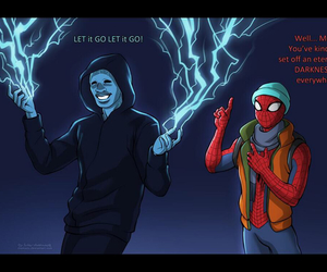 electro and spider-man image