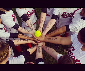 softball, scots, and cute image