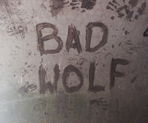 bad, bad wolf, and doctor who image