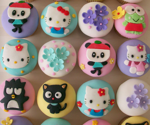 cupcake, hello kitty, and sweet image