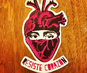 corazon, ezln, and stencil image
