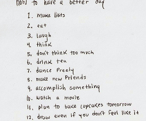 list, quotes, and day image