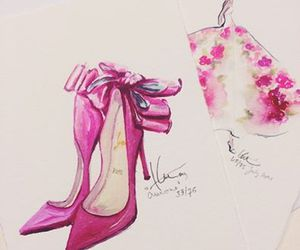 pink, shoes, and art image