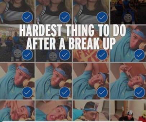 break up, hard, and breakup image