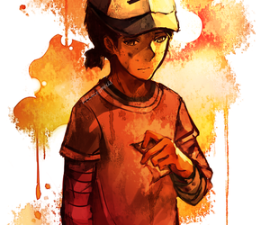 clementine, twdg, and the walking dead game image