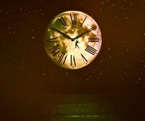 clock, Dream, and moon image