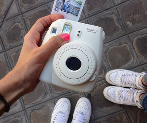 polaroid, friends, and nikeairforce1 image