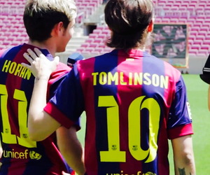 football, niall horan, and louis tomlinson image