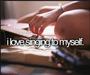 singing and and that's who i am image