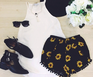 outfit, summer, and sunglasses image