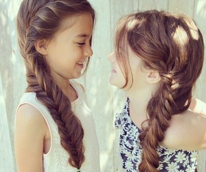 girls, hair, and braid image