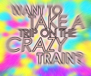 crazy, trip, and colorful image