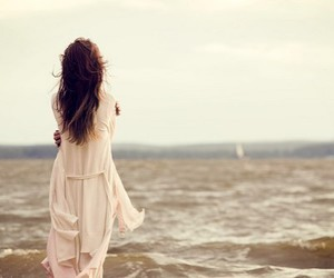 girl, sea, and alone image