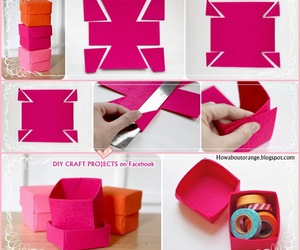 diy, box, and pink image