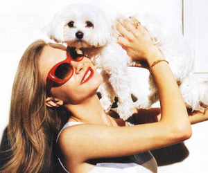 cara delevingne, model, and puppy image
