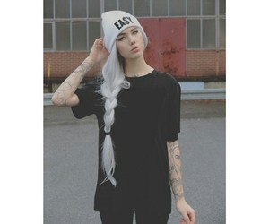 hipster, pale, and Tattoos image