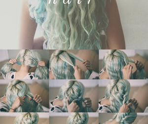 curly hair, fashion, and summer hair image