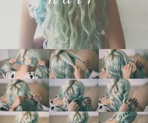 curly hair, long hair, and fashion image