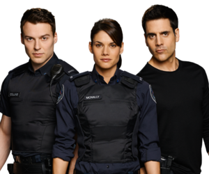 trio, rookie blue, and sam swarek image